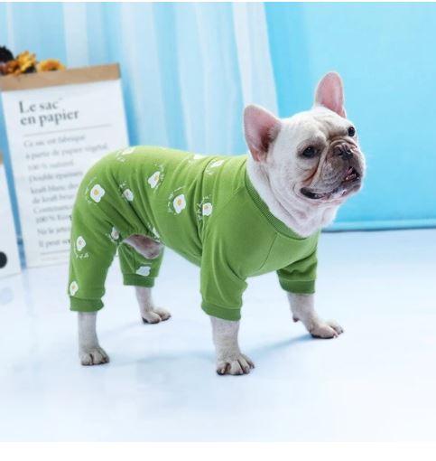 sunny side up french bulldog pajamas