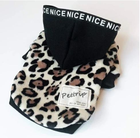 leopard hoodie for french bulldogs