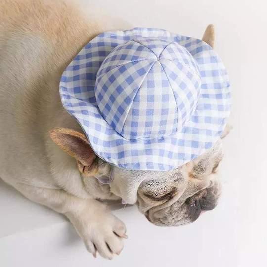 plaid french bulldog summer hat frenchie world shop 28840036401301 540x