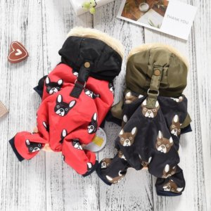 all over frenchie snowsuit