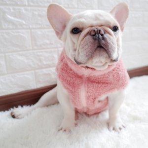 fuzzy zip up french bulldog vest