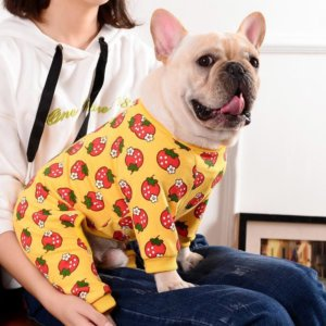 strawberry cotton dog pajamas