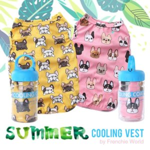 summer cooling vest french bulldog