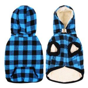 wool plaid jacket with detachable hood